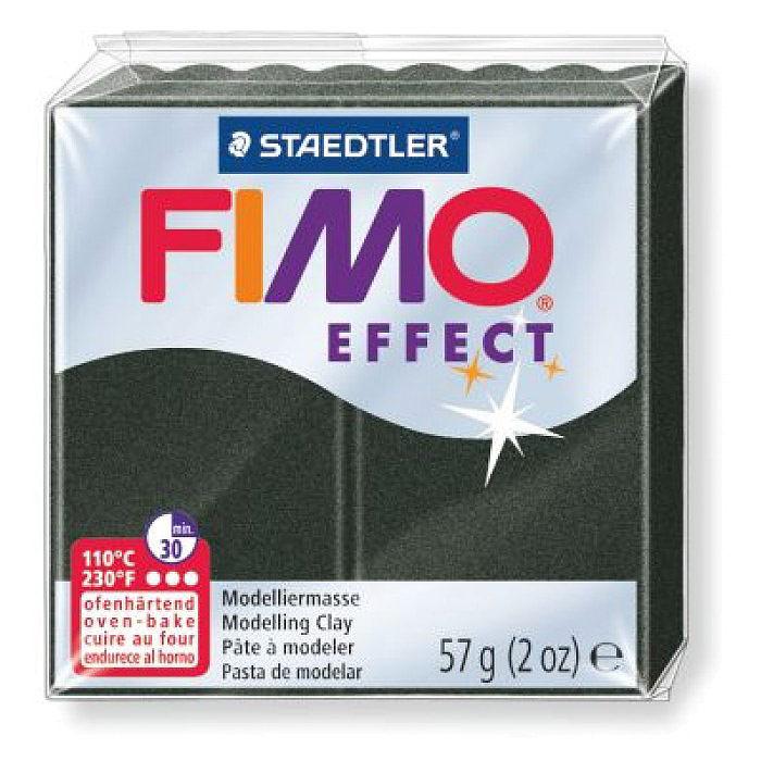 Fimo Глина полимерная Effect цвет перламутровый черный 57 г