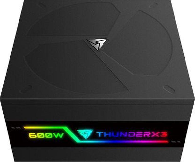 Блок питания компьютера ThunderX3 Plexus 600, Black