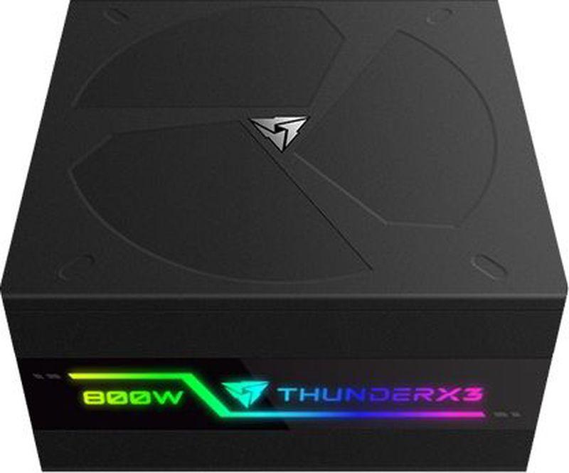 Блок питания компьютера ThunderX3 Plexus 800, Black