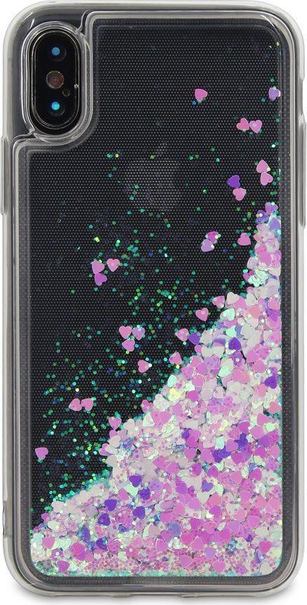 DYP Liquid Case Hearts чехол для Apple iPhone X, Pink Silver цена и фото