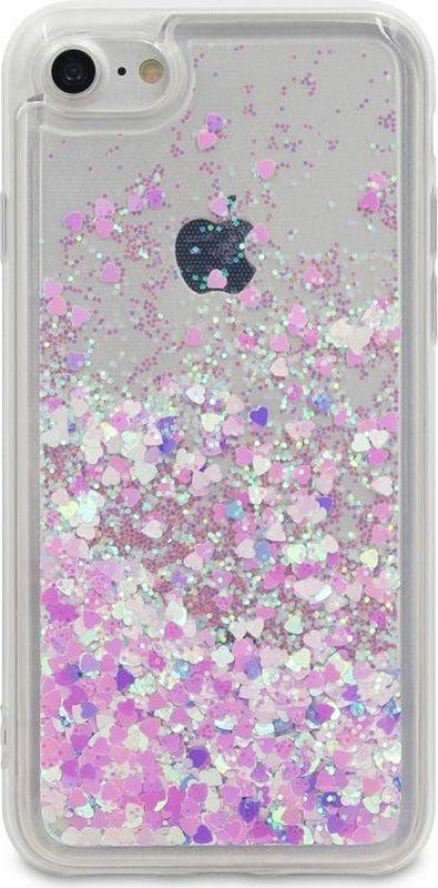 все цены на DYP Liquid Case Hearts чехол для Apple iPhone 7/8, Pink Silver онлайн