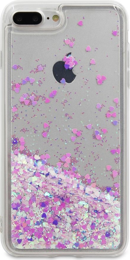 DYP Liquid Case Hearts чехол для Apple iPhone 7/8 Plus, Pink Silver