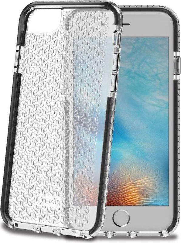 лучшая цена Celly Hexagon чехол для Apple iPhone X, Black
