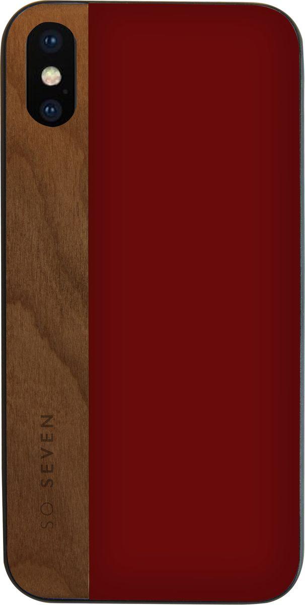 Фото - So Seven Dandy чехол для Apple iPhone X, Bordeaux Wood so seven dandy чехол для apple iphone x dark gray wood