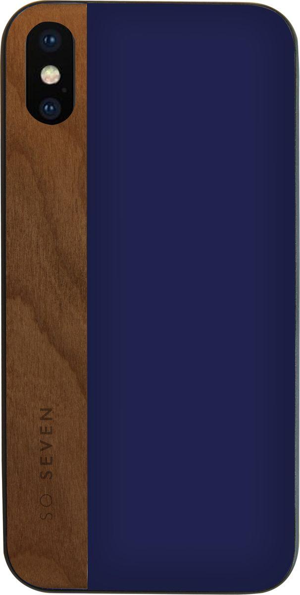 Фото - So Seven Dandy чехол для Apple iPhone X, Blue Wood so seven dandy чехол для apple iphone x dark gray wood