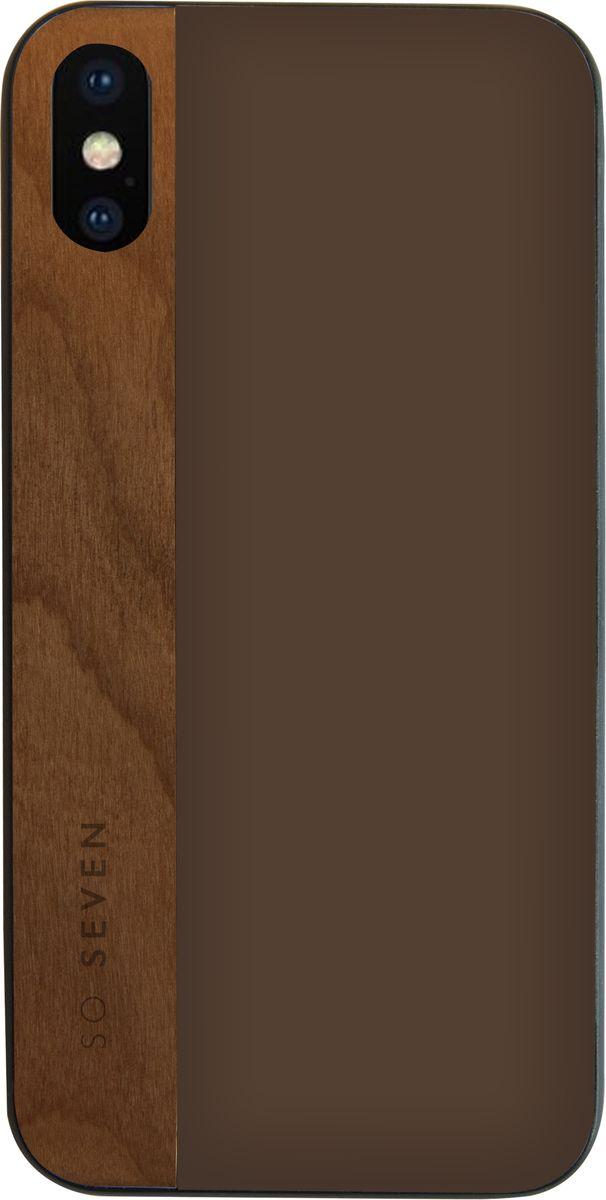 Фото - So Seven Dandy чехол для Apple iPhone X, Dark Gray Wood so seven dandy чехол для apple iphone x dark gray wood