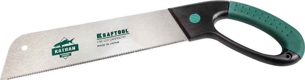 Ножовка по дереву Kraftool Katran Fine Cut, 300 мм x 0,6 мм, 14 TPI (1,8 мм) пила kraftool katran precision 1 15194 18 22