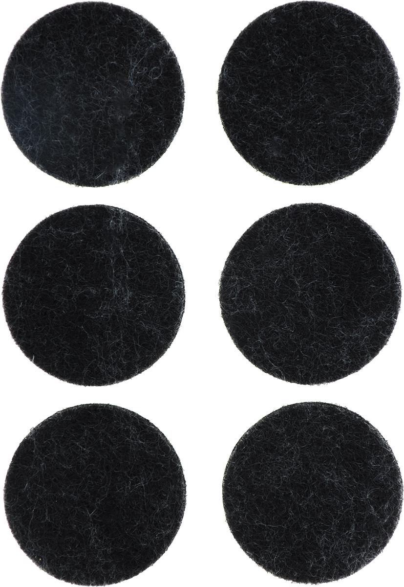 Подпятник для мебели Tech-Krep, самоклеящийся, цвет: темно-коричневый, диаметр 28 мм, 6 шт наклейки для мебели top star защитные цвет коричневый диаметр 2 5 см 12 шт