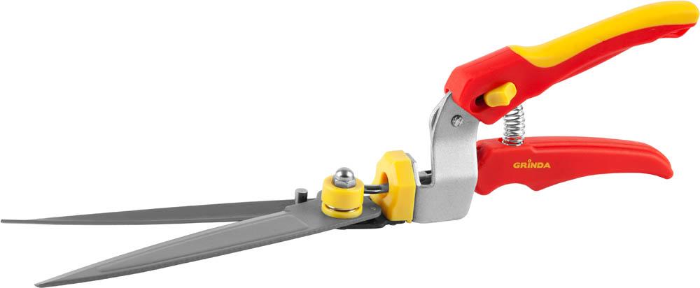 """Ножницы для стрижки травы """"Grinda"""", поворотный механизм 180 градусов, 345 мм"""