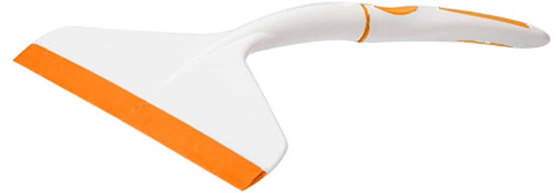 Водосгон Svip Софтэль, цвет: белый, оранжевый, ширина 17 см ведро svip классика 13л пластик прямоуг со вставкой цв серебр