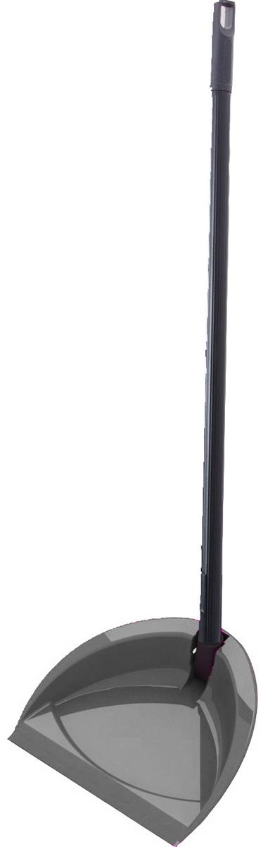 Совок Svip Классика, с высокой ручкой, цвет: серебряный совок svip декор пейсли цвет серо голубой