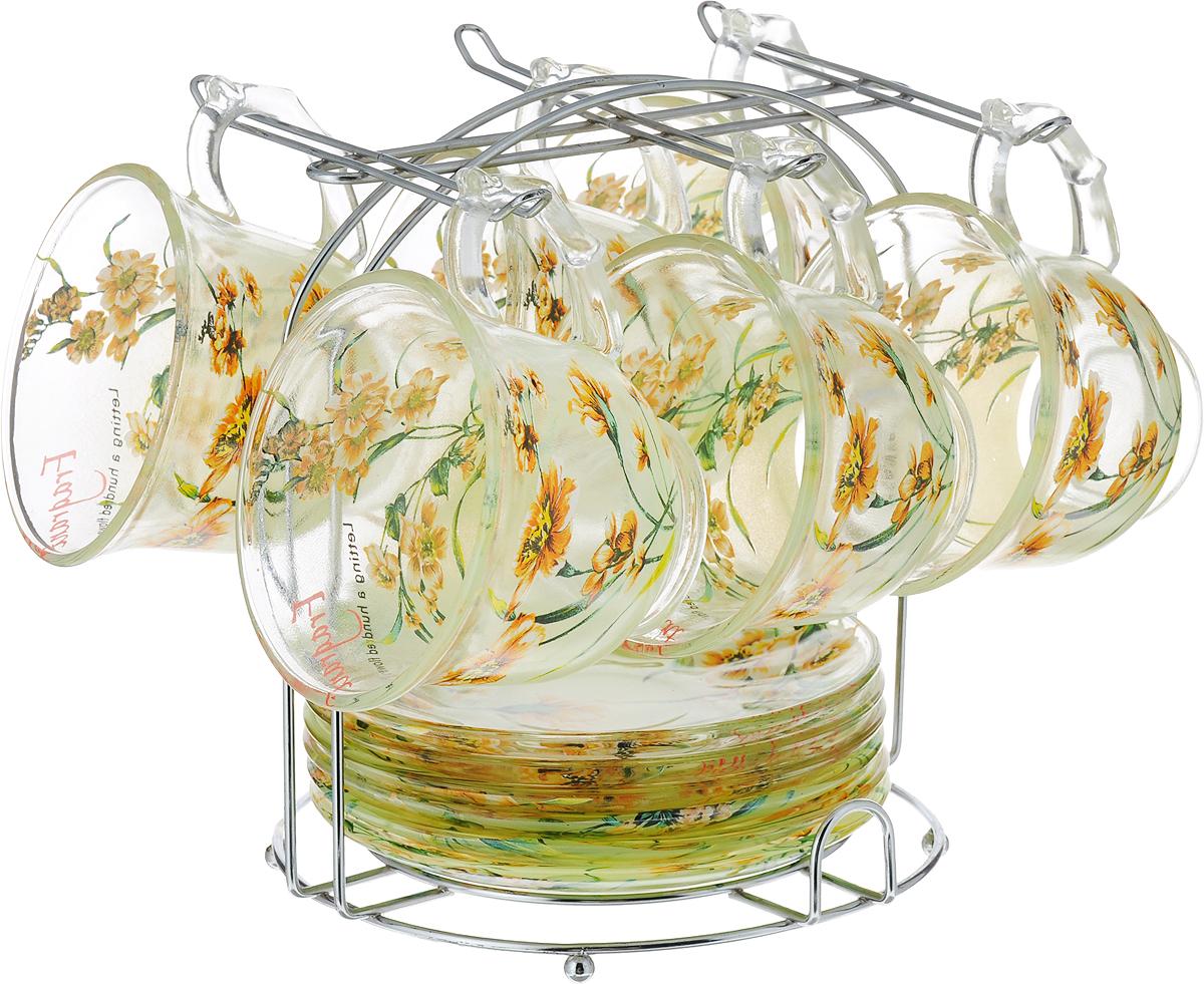 "Набор чайный ""Bekker"", цвет: зеленый, 13 предметов. BK-5810"