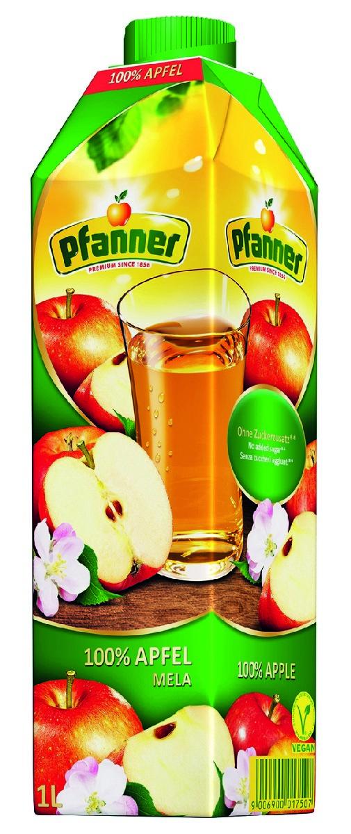 Pfanner Сок яблоко, 1 л pfanner нектар персик 1 л
