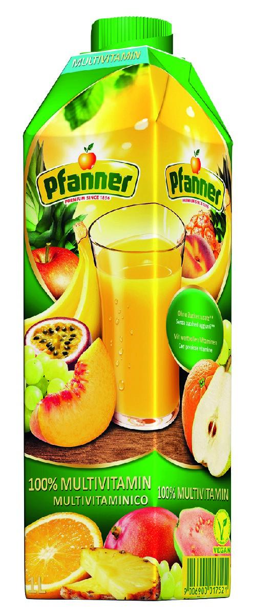 Pfanner Сок мультивитамин, 1 л добрый сок яблоко персик 0 2 л