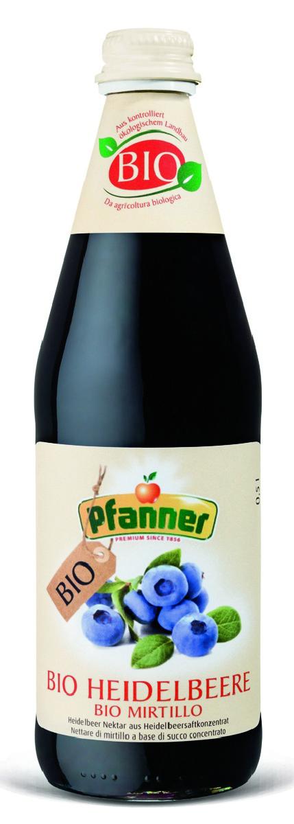 Pfanner Нектар черника БИО, 500 мл pfanner нектар персик 1 л