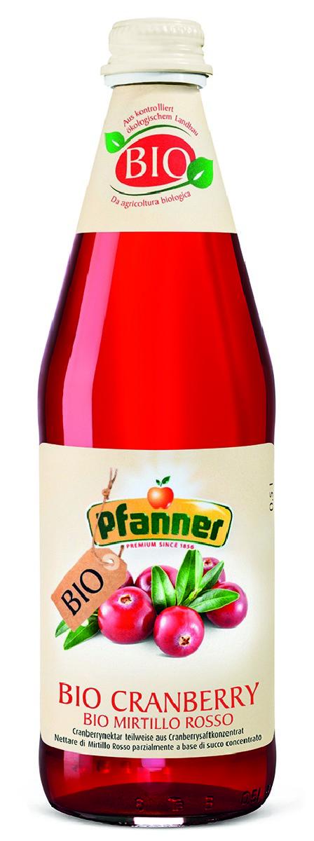 Pfanner Нектар клюква БИО, 500 мл pfanner нектар персик 1 л