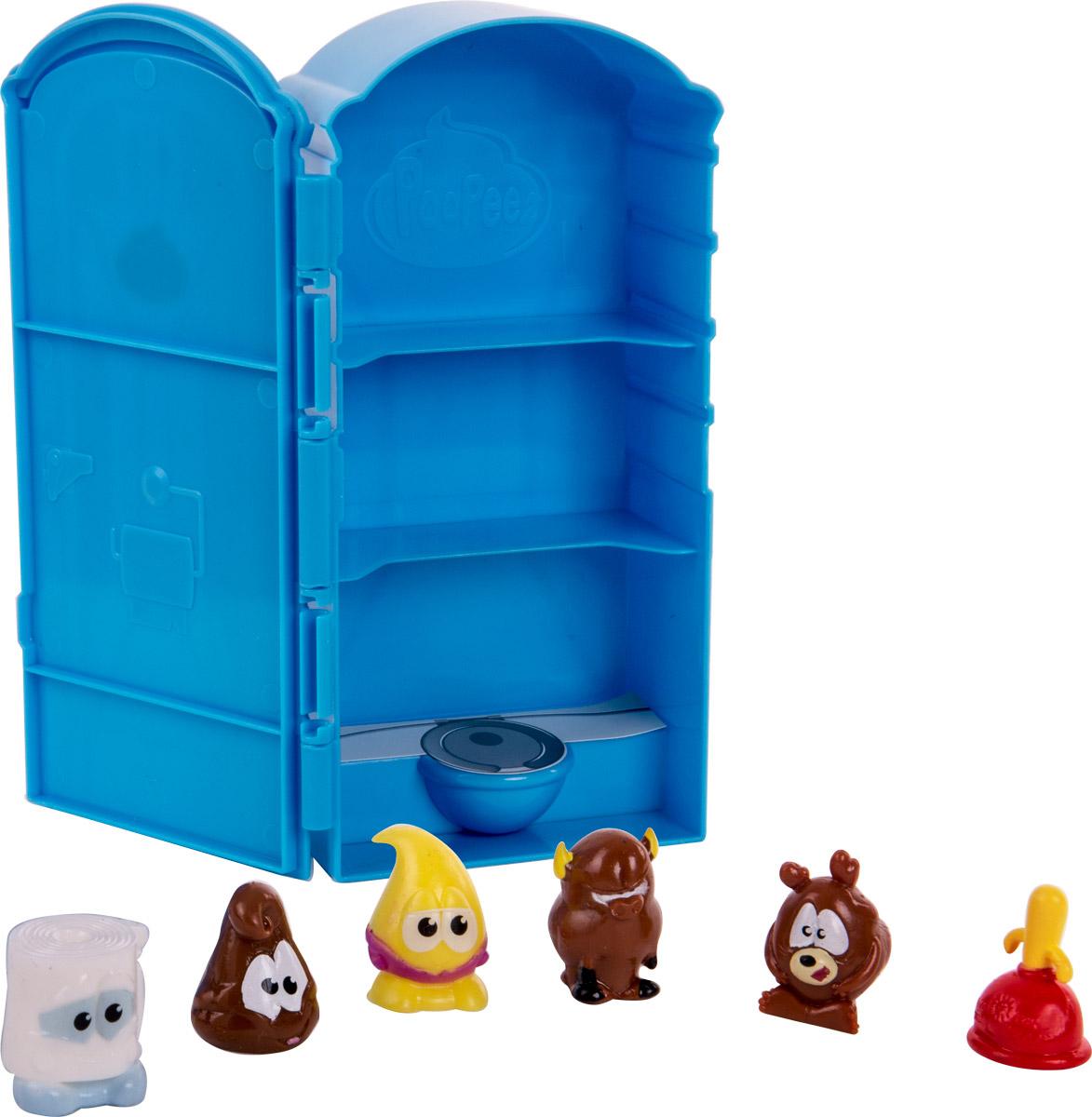 Poopeez Игровой набор Туалетная кабинка с фигурками71260В набор входит туалетная кабинка - бокс для хранения фигурок Poopeez и 6 фигурок Poopeez. Два персонажа - эксклюзивные!