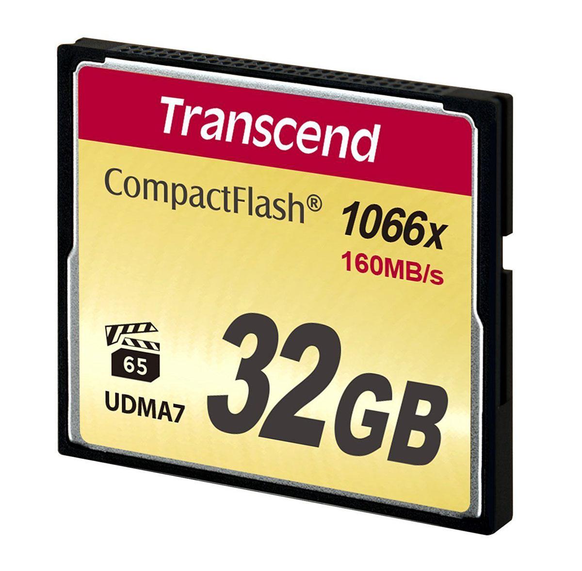 цена на Transcend Compact Flash 1000X 32GB карта памяти (TS32GCF1000)