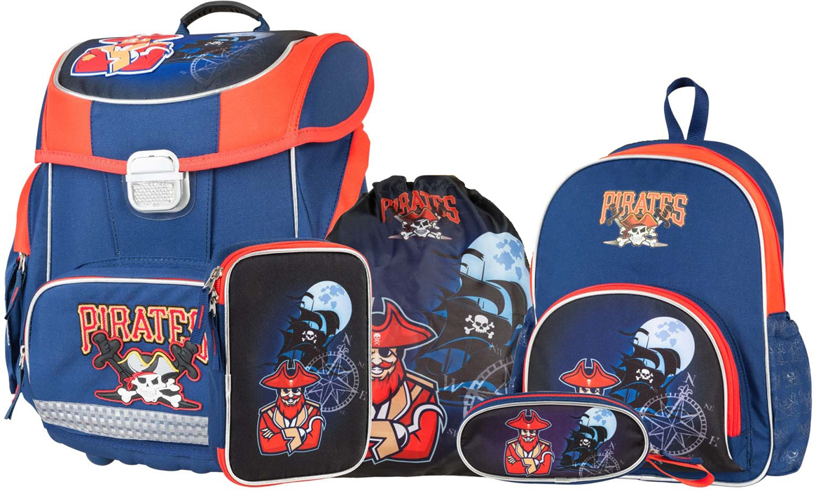 Target Collection Ранец школьный Пираты с наполнением 5 предметов target collection ранец школьный большие колеса 4 в 1