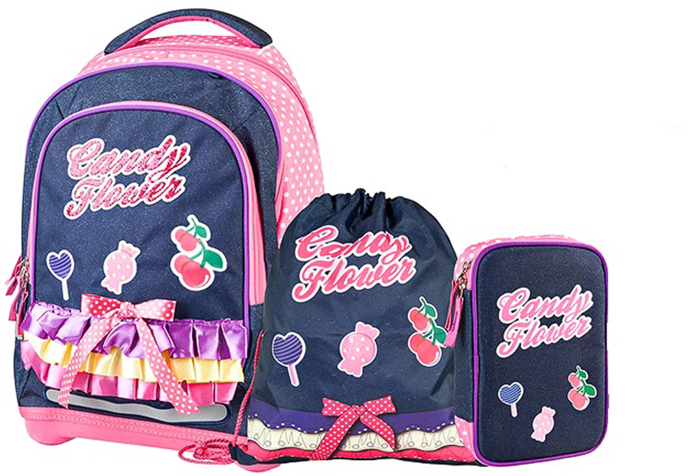 Ранец школьный Target Collection Сладкие цветы, 3 в 1 target collection ранец школьный большие колеса 4 в 1