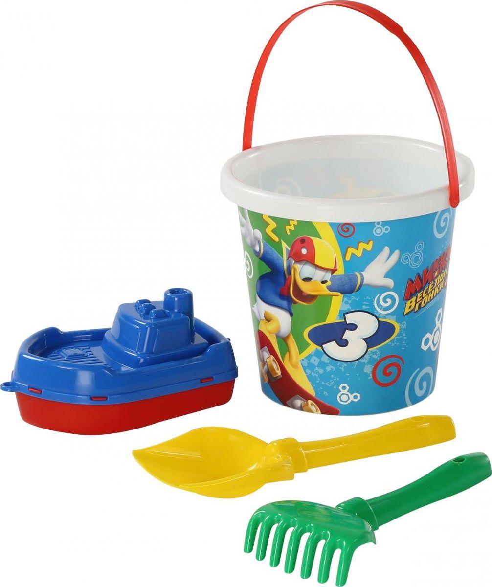 Disney Набор игрушек для песочницы Микки и Веселые гонки №10, цвет в ассортименте disney набор игрушек для песочницы винни и его друзья 4