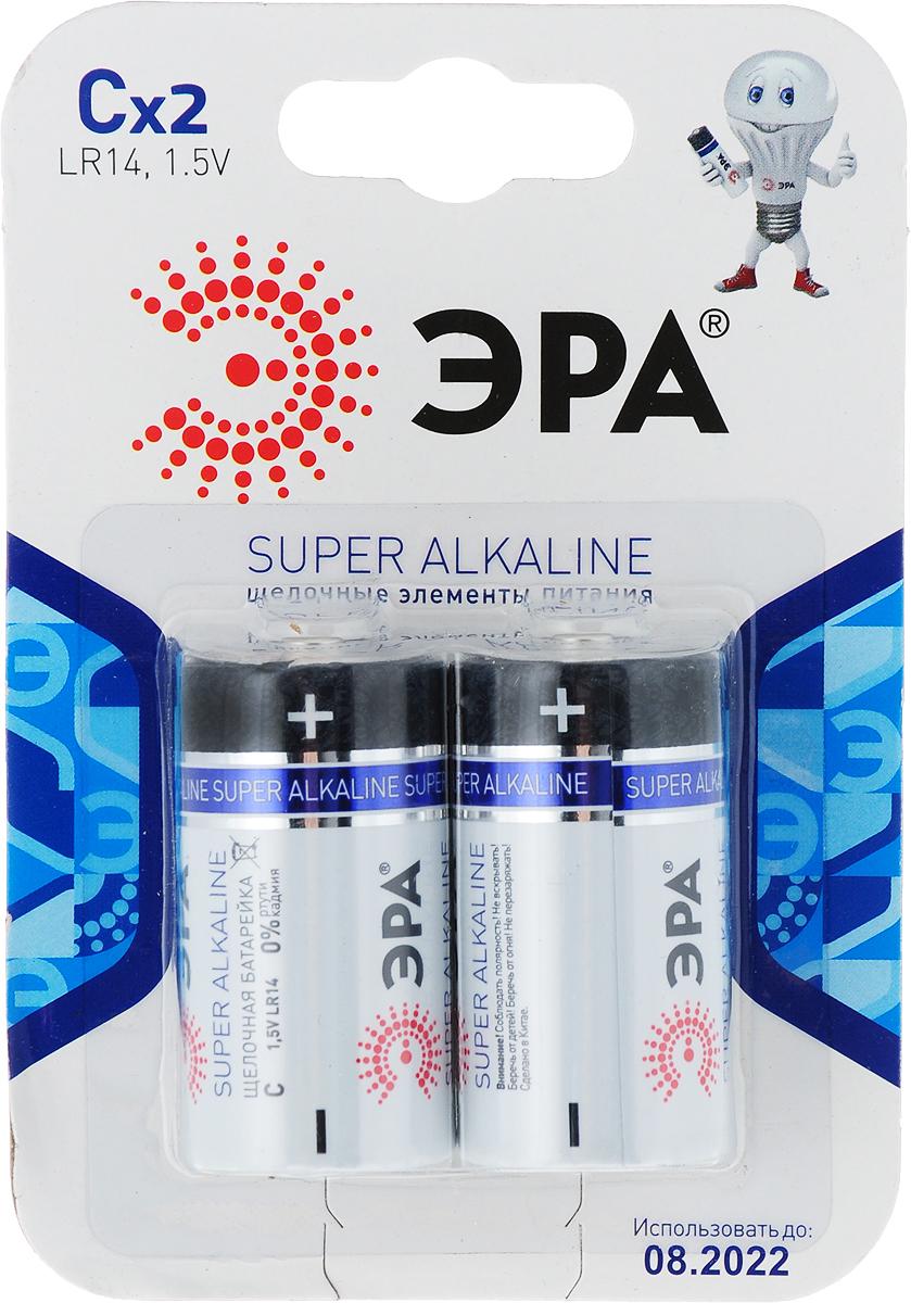 Батарейка алкалиновая ЭРА Energy, тип C (LR14), 1,5В, 2 шт батарейка алкалиновая эра energy тип a27 1bl 12в