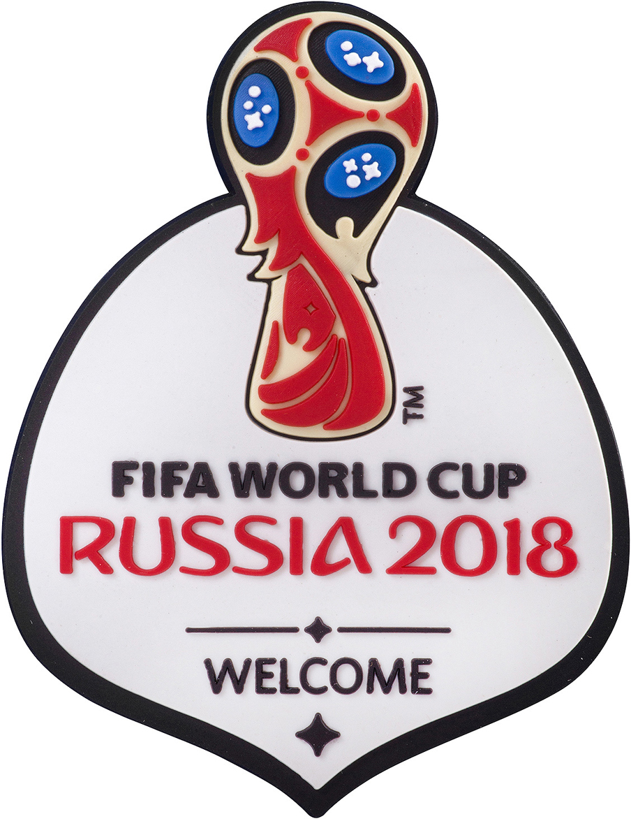 "Магнит сувенирный FIFA 2018 ""Забивака Фристайл!"", 6 х 13 см. СН036"