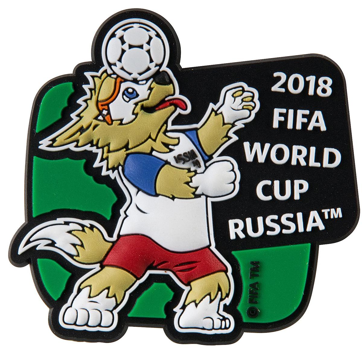 "Магнит сувенирный FIFA 2018 ""Забивака Вперед!"", 6 х 13 см. СН037"