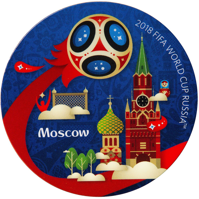 Магнит сувенирный FIFA 2018 Москва, диаметр 6 см. СН501 магнит fifa 2018 россия пвх