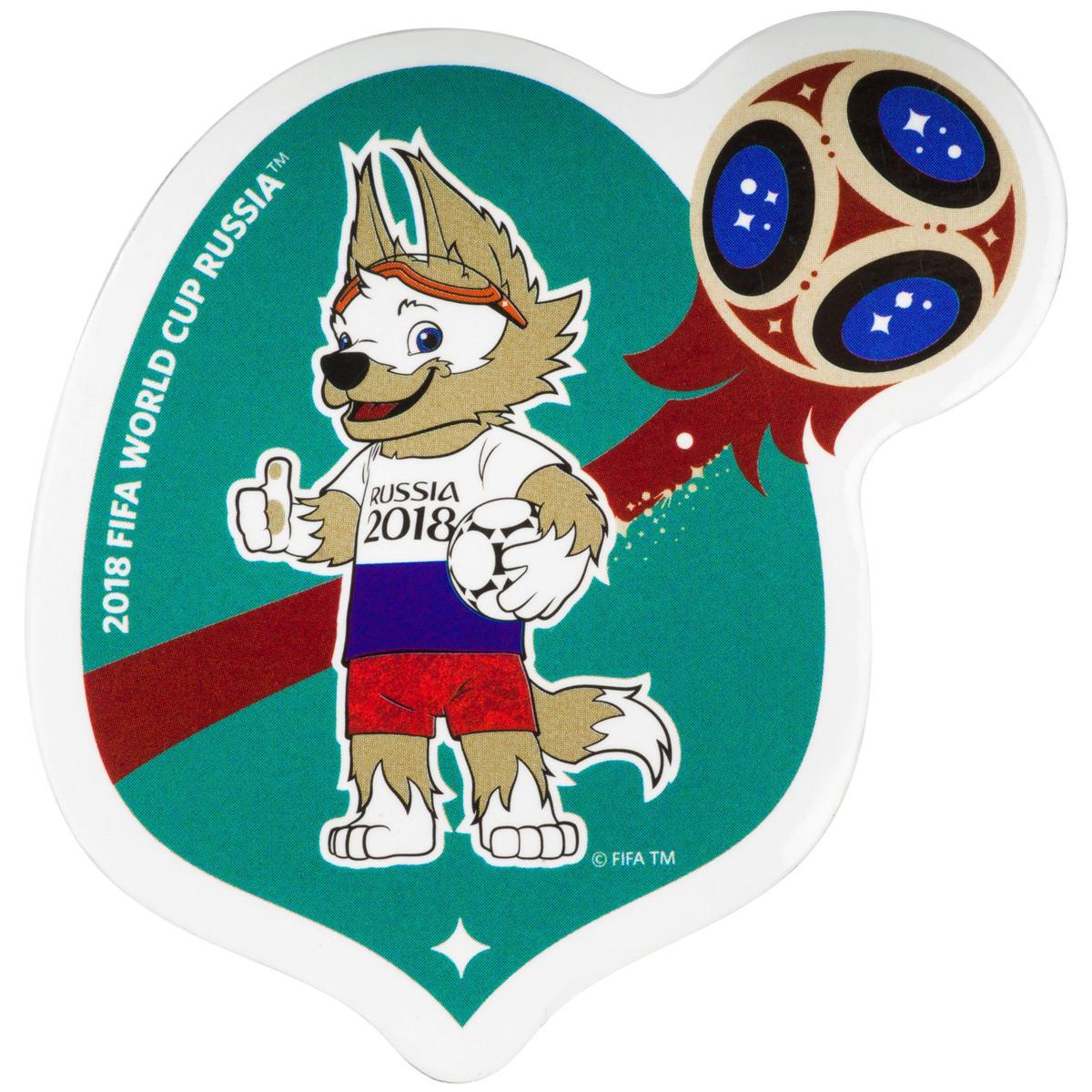 Магнит сувенирный FIFA 2018 Забивака Россия, 8 х 11 см. СН528 магнит fifa 2018 россия пвх