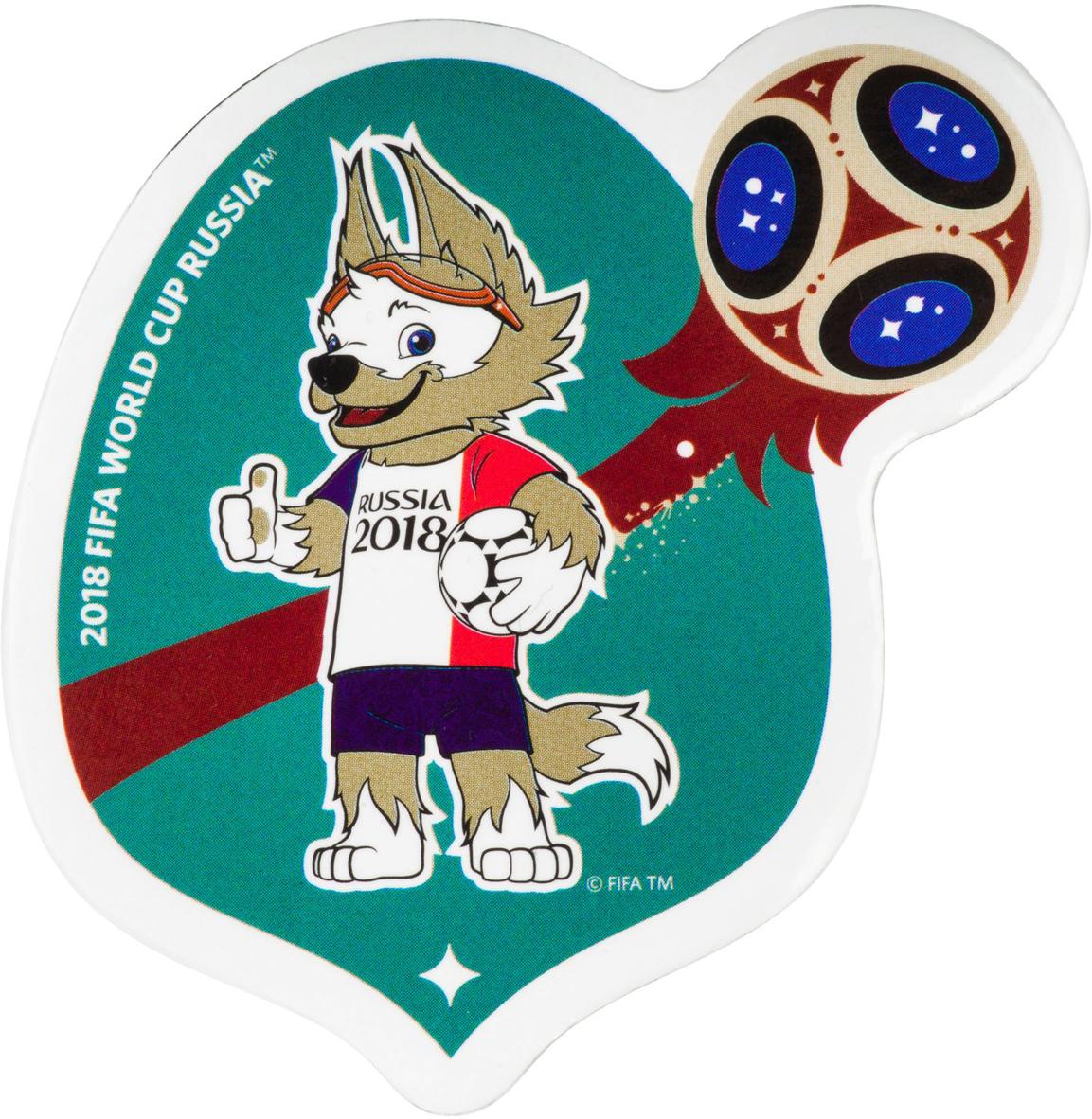 """Магнит сувенирный FIFA 2018 """"Забивака Фристайл! Триколор"""", 8 х 11 см. СН530"""