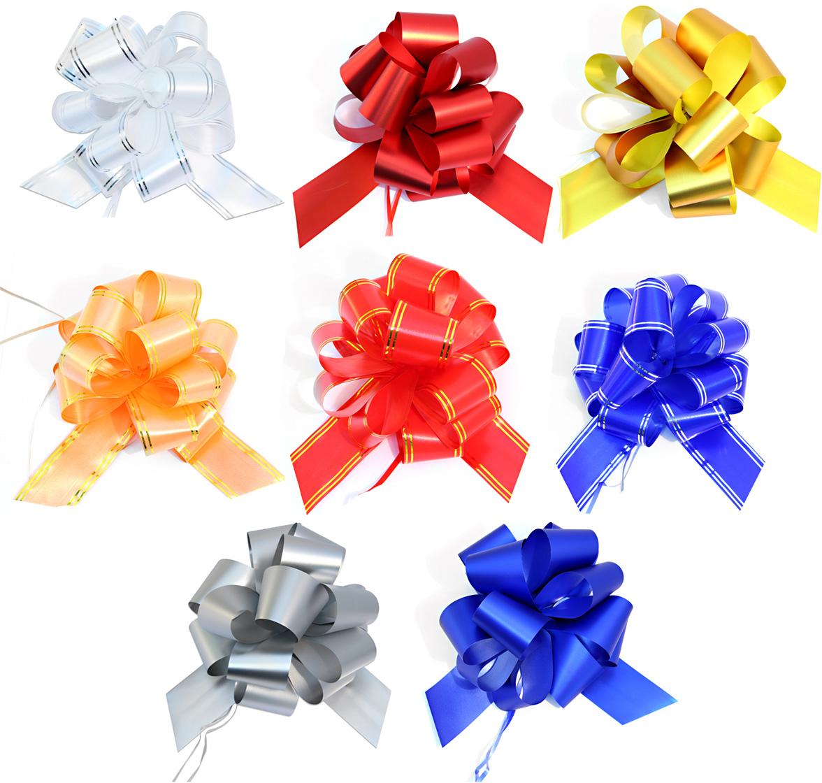 Бант упаковочный Veld-Co Шар, цвет: мультиколор, 5 х 148 см, 10 шт коробка подарочная veld co giftbox трансформер солнечное настроение цвет оранжевый 10 3 х 10 3 х 9 8 см