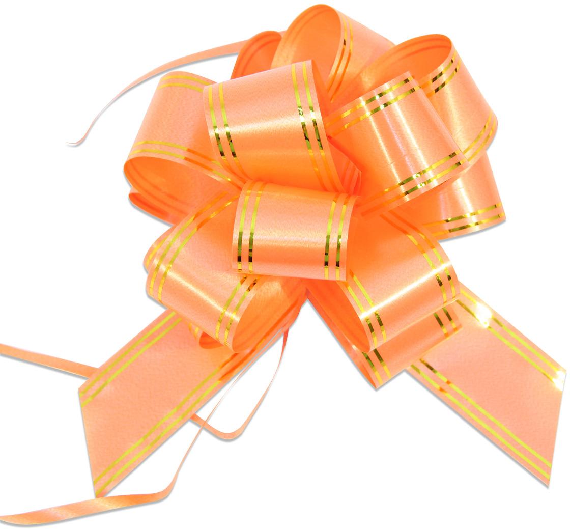 Бант упаковочный Veld-Co Шар, цвет: оранжевый, 3 х 100 см, 10 шт коробка подарочная veld co giftbox трансформер разноцветные горошки цвет белый 10 3 х 10 3 х 9 8 см
