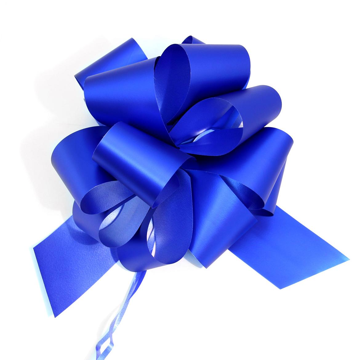 Бант упаковочный Veld-Co Шар, цвет: синий, 5 х 148 см, 10 шт коробка подарочная veld co giftbox трансформер солнечное настроение цвет оранжевый 10 3 х 10 3 х 9 8 см