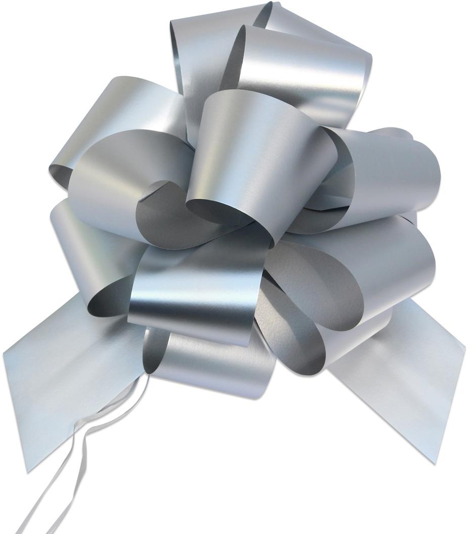 Бант упаковочный Veld-Co Шар, цвет: серебристый, 5 х 148 см, 10 шт коробка подарочная veld co giftbox трансформер солнечное настроение цвет оранжевый 10 3 х 10 3 х 9 8 см