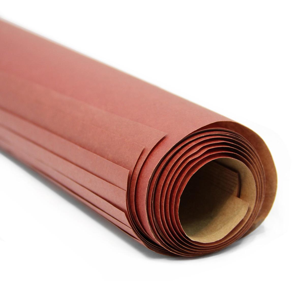 """Бумага упаковочная Veld-Co """"Крафт 203"""", цвет: сангрия (020), 100 х 70 см, 2 листа"""