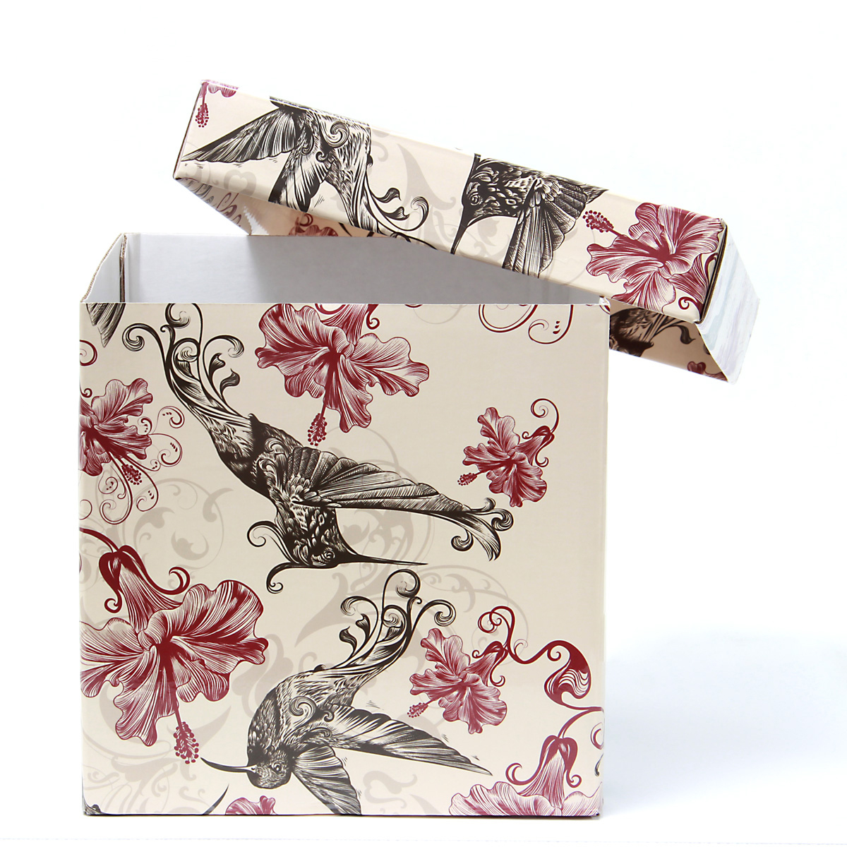 Коробка подарочная Veld-Co Giftbox. Трансформер. Нежные колибри, цвет: бежевый, 14,5 х 14,5 х 14,5 см коробка подарочная veld co giftbox трансформер нежные цветы цвет белый 10 3 х 10 3 х 9 8 см