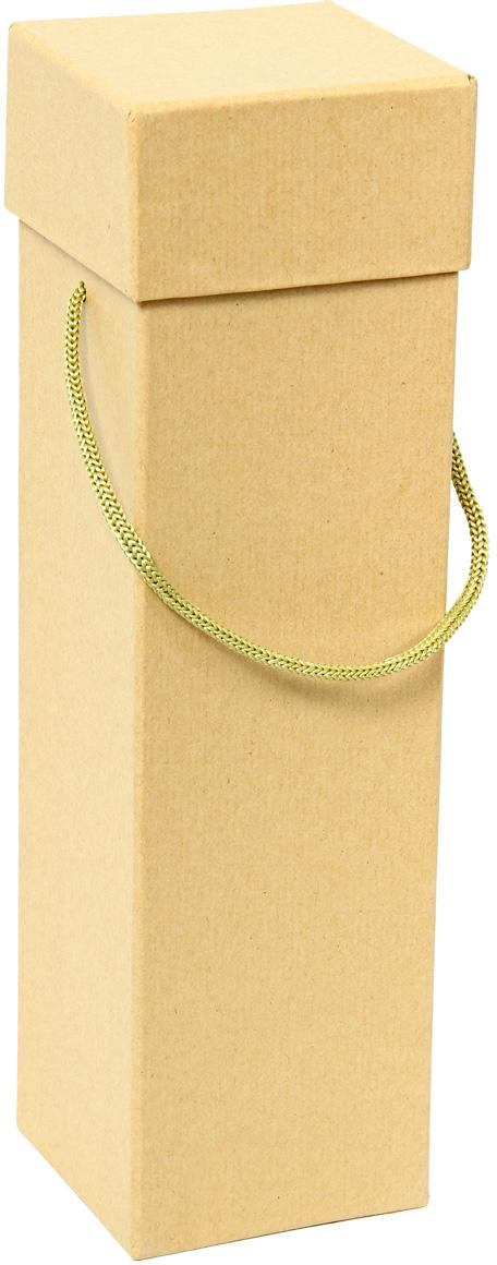Коробка подарочная Veld-Co Крафт, под бутылку, цвет: бежевый, 9 х 9 х 33,5 см коробка подарочная veld co giftbox трансформер узоры и надписи под бутылку цвет слоновая кость 34 4 х 8 2 х 8 2 см