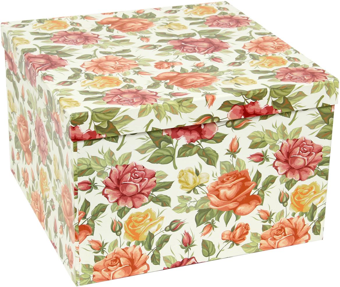 Набор подарочных коробок Veld-Co Цветущие розы, кубы, 5 шт ideal lux уличный настенный светодиодный светильник ideal lux berta ap1 big grigio