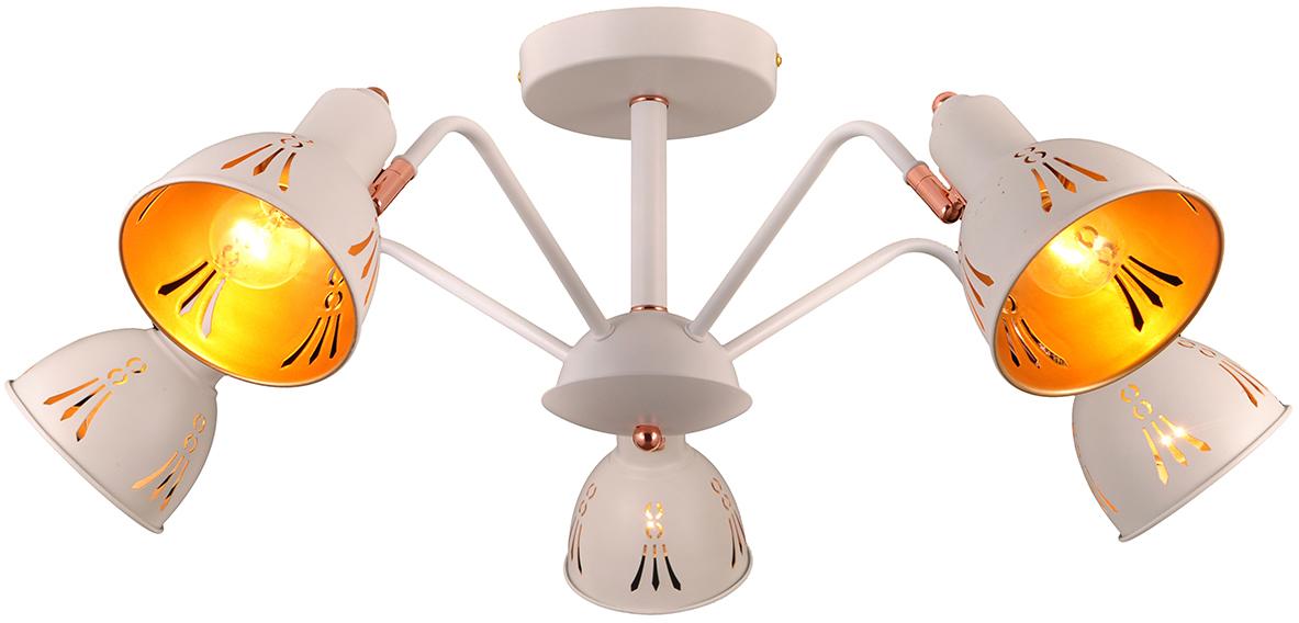 Люстра Natali Kovaltseva, 5 х E14, 40W. FAVORIT 75097/5C WHITEFAVORIT 75097/5C WHITEСтиль модерн характеризуется изогнутыми, несимметричными и грациозными линиями. Очень стильно данные светильники смотрятся в интерьере, в основе которых лежат нестандартные решения. Если Вы любитель всего оригинального, нового, неизбитого, то светильники коллекции Natali Kovaltseva направления МОДЕРН – это Ваш выбор! Размеры: D70 x H29 cm