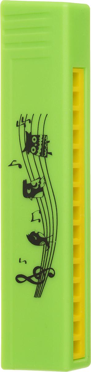 Пластмастер Музыкальная игрушка Гармошка цвет салатовый музыкальные инструменты plan toys музыкальная гармошка