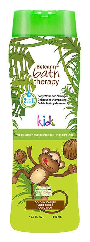 Bath Therapy Детский гель для душа и шампунь для волос Кокосовое удовольствие 2 в 1 500 мл bath therapy 2 в 1 детский гель для душа и шампунь для волос взрывной апельсин 500 мл