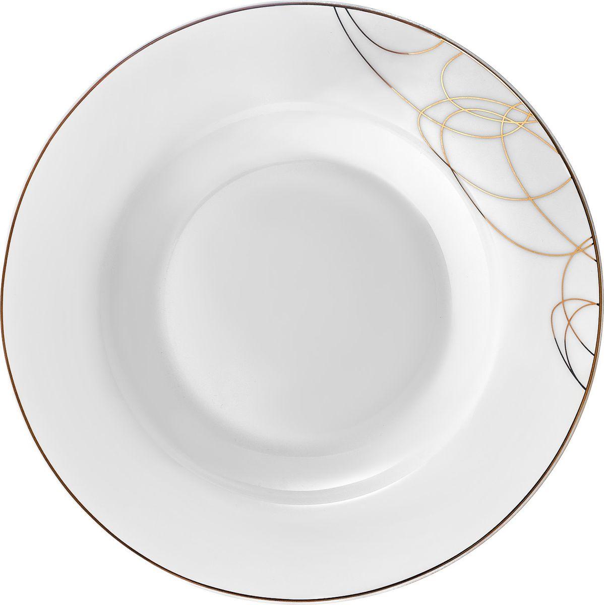 Тарелка суповая,22,5 см, костяной фарфор, Leontina, LEO023GE301