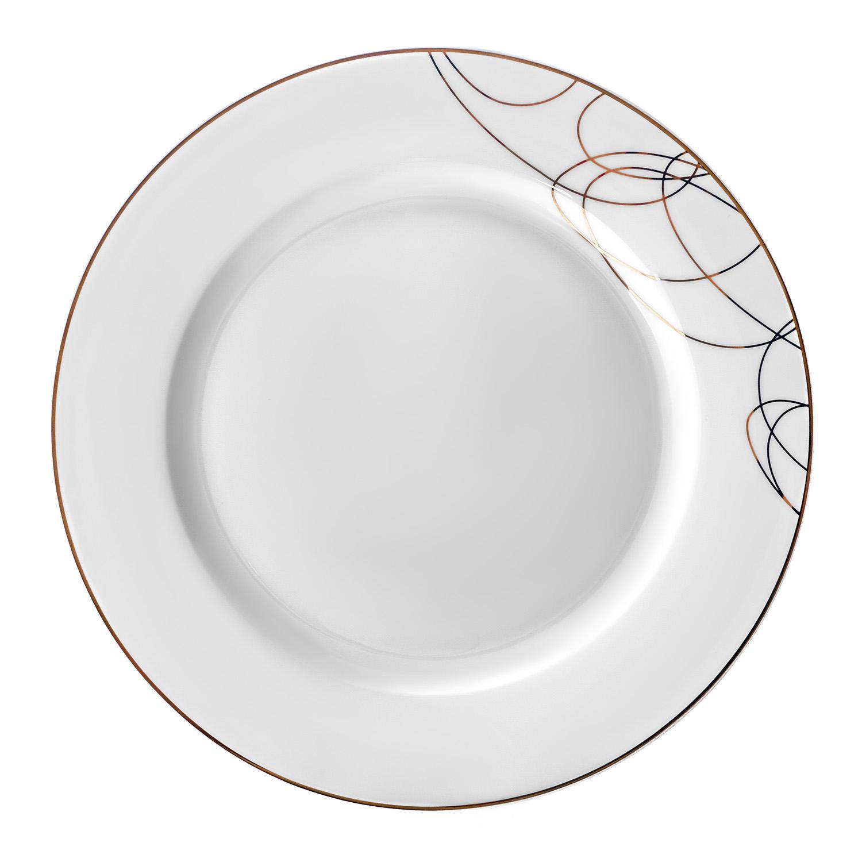 Тарелка обеденная,22,5 см, костяной фарфор, Leontina, LEO023GE308