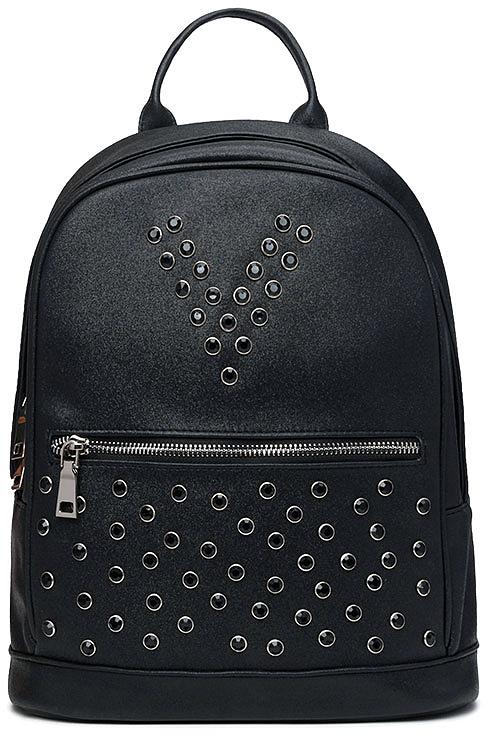 цена Рюкзак женский Vitacci, цвет: черный. V1265 онлайн в 2017 году