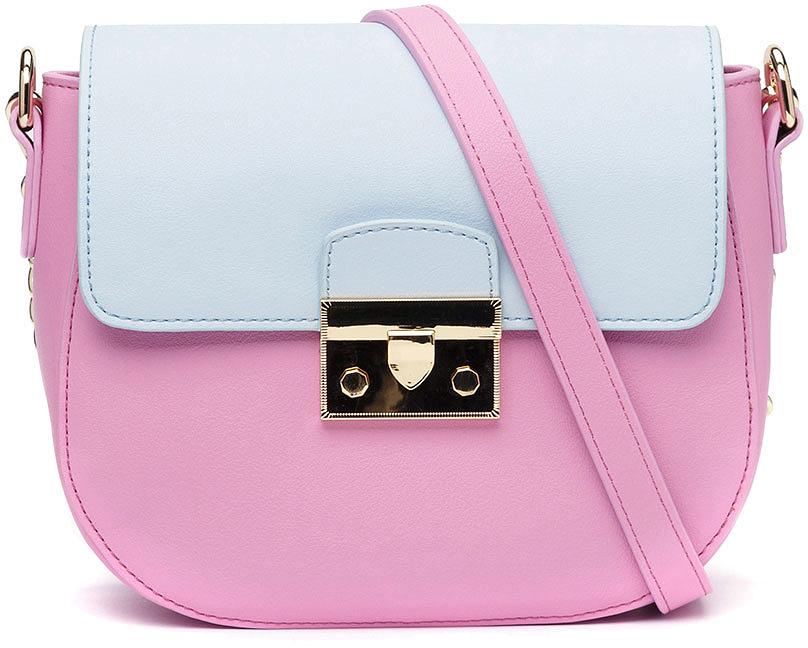 цена Сумка кросс-боди женская Vitacci, цвет: фиолетовый. YZ0259 онлайн в 2017 году