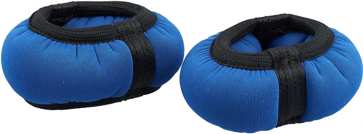 Утяжелитель-браслет для рук Indigo, цвет: синий, 0,3 кг, 2 шт утяжелитель спортивный indigo неопреновые цвет красный 0 2 кг 2 шт