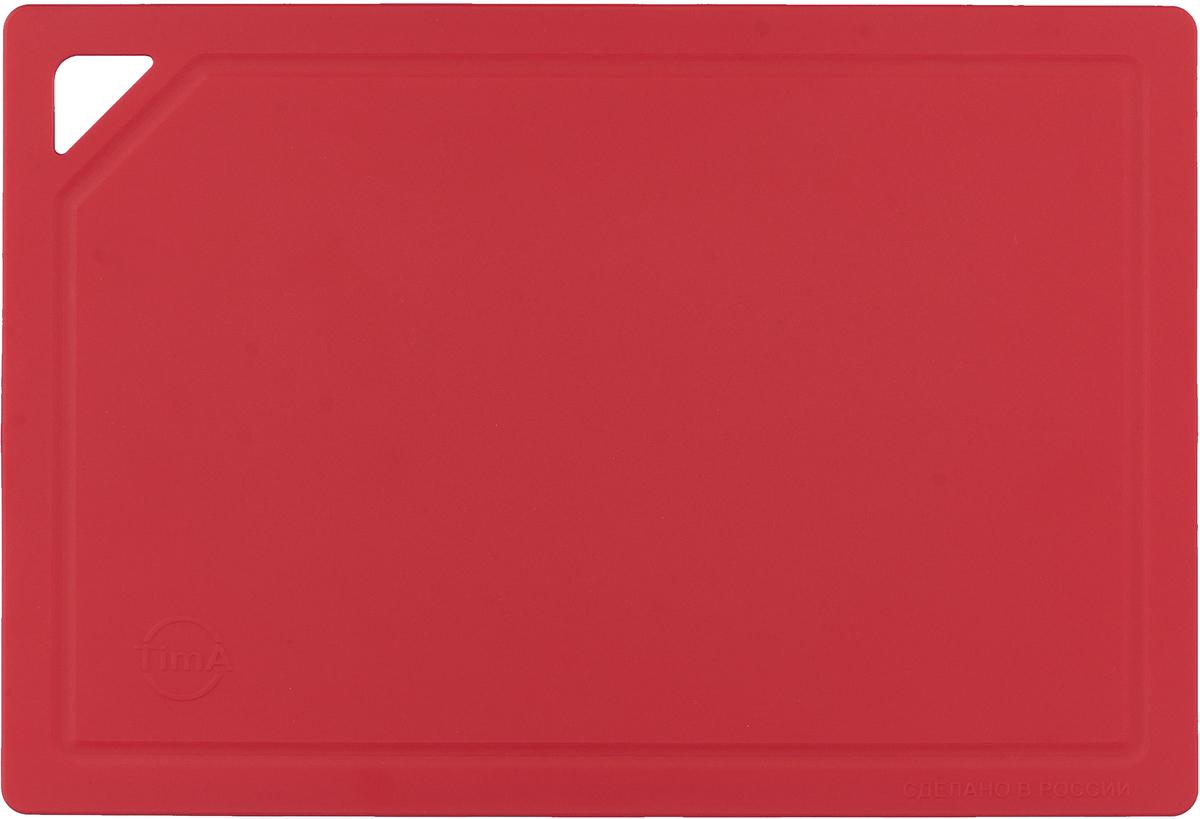 Доска разделочная средняя TimA, цвет: красный. ДРГ-3022 разделочная доска домашний сундук гибкая цвет красный синий 2 шт