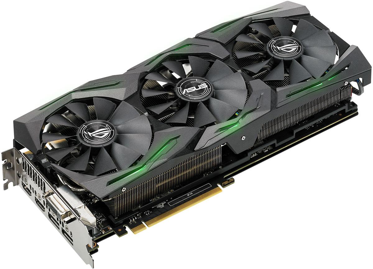 Видеокарта ASUS ROG Strix GeForce GTX 1080 Ti 11GB видеокарта asus rog strix geforce gtx 1080 ti 11gb