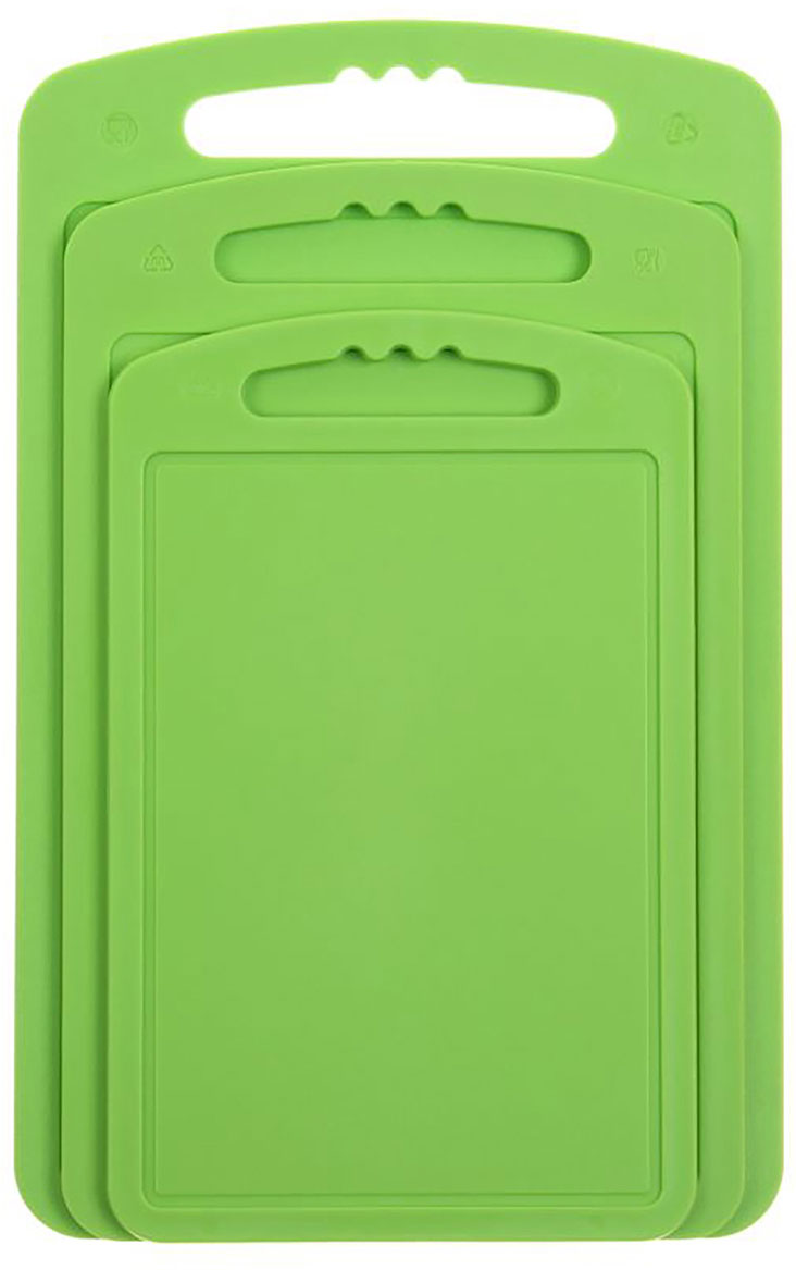 Доска разделочная Martika, цвет: зеленый, 32 х 20 х 2 см, 3 шт доска разделочная martika цвет зеленый 32 х 20 х 2 см 3 шт